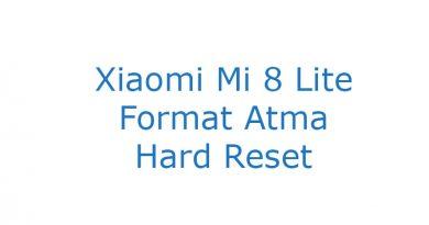 Xiaomi Mi 8 Lite Format Atma Hard Reset