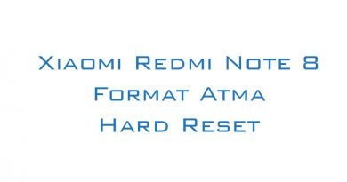 Xiaomi Redmi Note 8 Format Atma Hard Reset