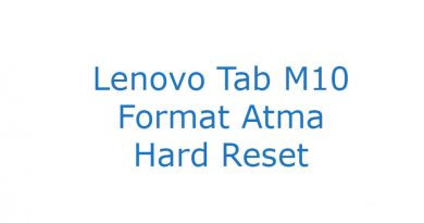 Lenovo Tab M10 Format Atma Hard Reset