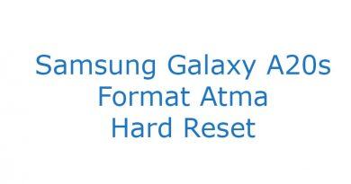 Samsung Galaxy A20s Format Atma Hard Reset