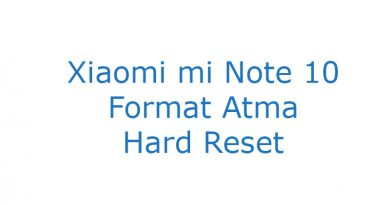 Xiaomi mi Note 10 Format Atma Hard Reset