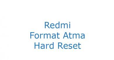 Redmi Format Atma Hard Reset