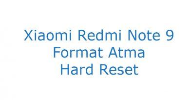 Xiaomi Redmi Note 9 Format Atma Hard Reset