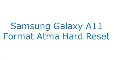 Samsung Galaxy A11 Format Atma Hard Reset