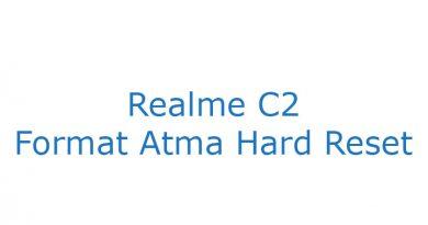 Realme C2 Format Atma Hard Reset