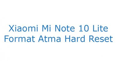 Xiaomi Mi Note 10 Lite Format Atma Hard Reset