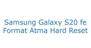 Samsung Galaxy S20 fe Format Atma Hard Reset