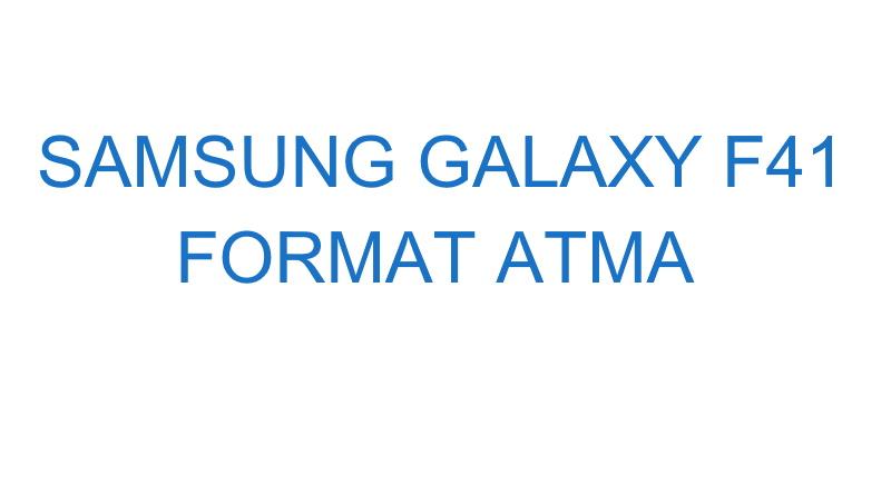 Samsung Galaxy F41 Format